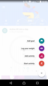 Google Fit record activity