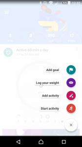 Google Fit record activity