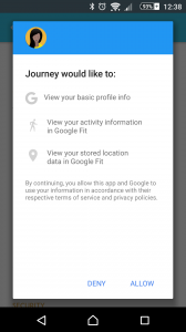 Google Fit permission