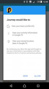 Google Fit permission