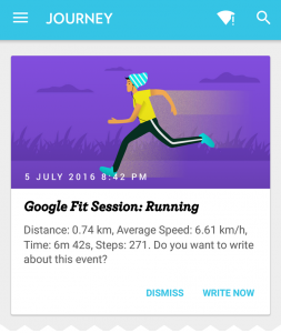 google fit card
